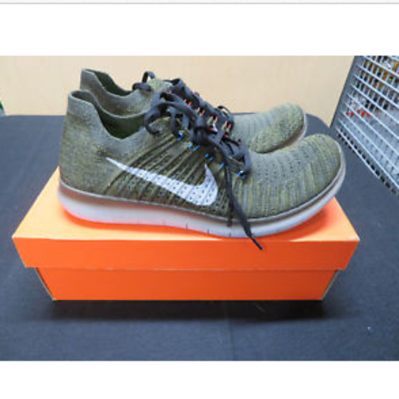 345b641708ab NIKE FREE RN FLYKNIT RUNNING SHOES CARGO KHAKI NEW